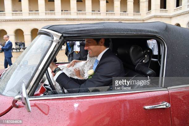 Prince JeanChristophe Napoleon attends his wedding with Olympia Von ArcoZinneberg at Les Invalides on October 19 2019 in Paris France