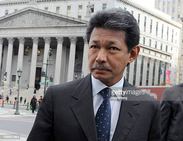 Prince Jefri Bolkiah, former finance minister of Brunei, exits State Supreme Court during a recess in his trial in New York, U.S., on Wednesday, Nov....