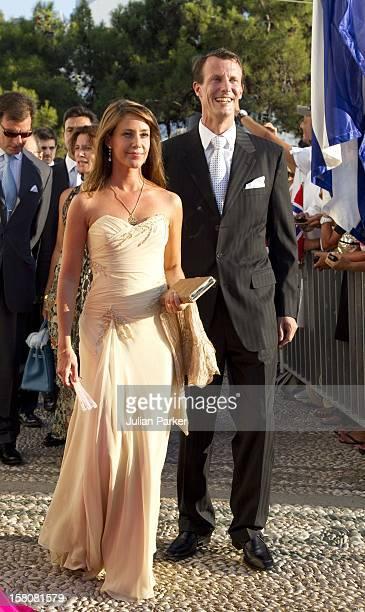 Prince Joachim And Princess Marie Of Denmark Attend The Wedding Of Prince Nikolaos Of Greece And Tatiana Blatnik At The Monastery Of Ayios Nikolaos...