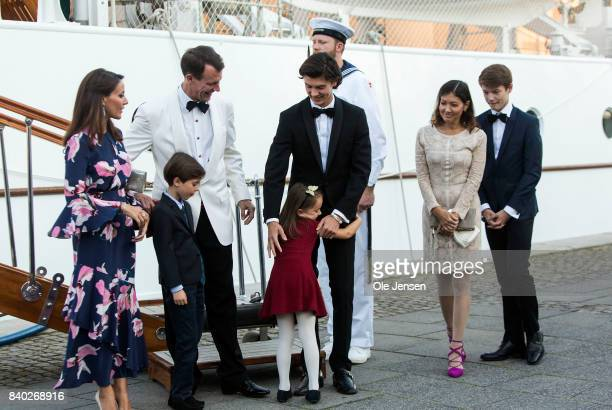 Prince Joachim and Princess Marie together with their children and Jochim's former wife Alexandra Christina Manley at the dinner party to celebrate...