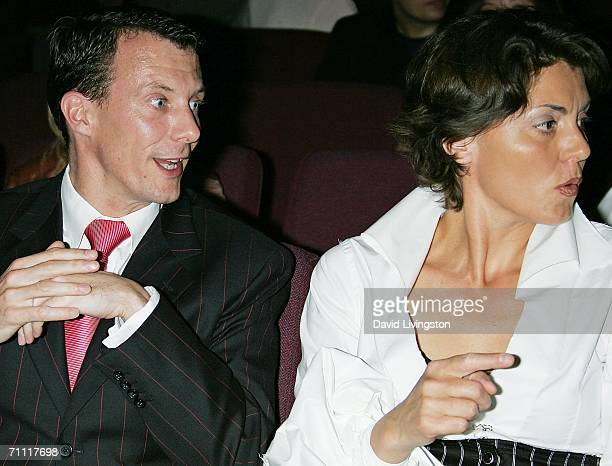 Prince Joachim of Denmark and festival cofounder Lene Pels Jorgensen attend the Danish Film Fest LA at the Aero Theatre on June 3 2006 in Santa...