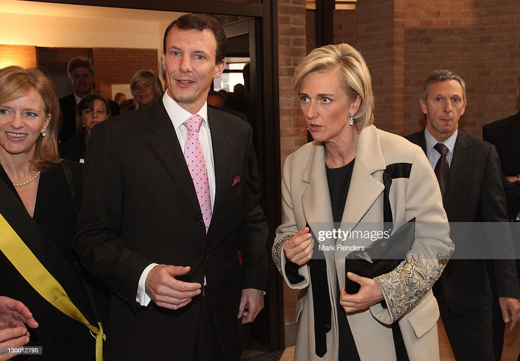 T.R.HJoachim And Marie Of Denmark Inaugurate Our Lady's Church In Brussels : News Photo