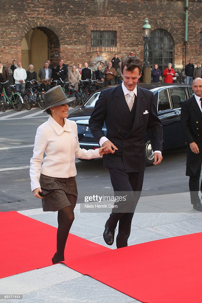 Prince Joachim of Denmark and Princess Marie of Denmark attend the opening of the Folketingets parliamentary session at Christiansborg Castle on October 7, 2008 in Copenhagen, Denmark