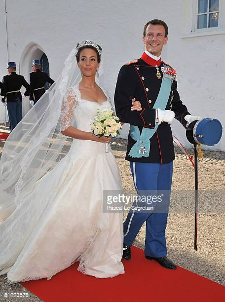 Prince Joachim of Denmark and Princess Marie of Denmark, Countess of Monpezat, depart after getting married at the Mogeltonder Church on May 24, 2008...