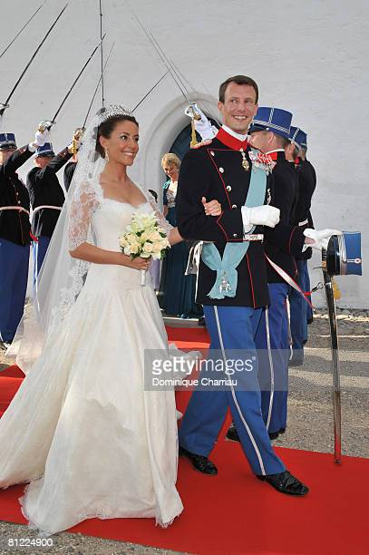 Prince Joachim of Denmark and Princess Marie of Denmark, Countess of Monpezat, depart after they got married at the Mogeltonder church on May 24,...