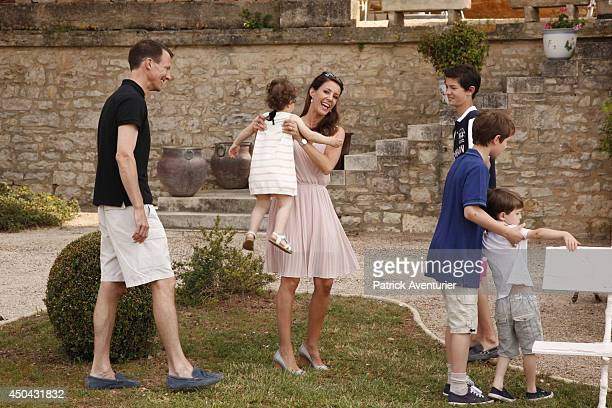 Prince Joachim of Denmark and Princess Marie of Denmark with Prince Felix of Denmark, Prince Henrik of Denmark, Prince Nikolai of Denmark and...