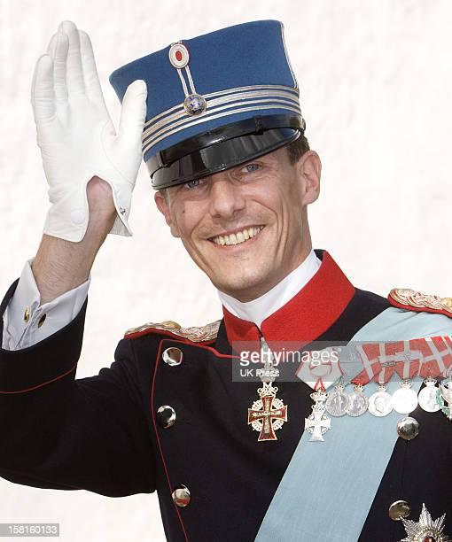 Prince Joachim Of Denmark At His Wedding To Miss Marie Cavallier At Mogeltonder Church In Mogeltonder, Denmark.