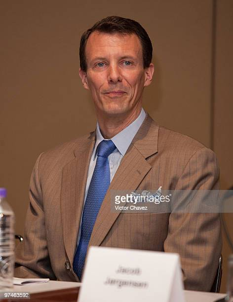 Prince Joachim of Denmark attends a press conference during the The Wild Swans exhibition at Franz Mayer Museum on March 4 2010 in Mexico City Mexico...