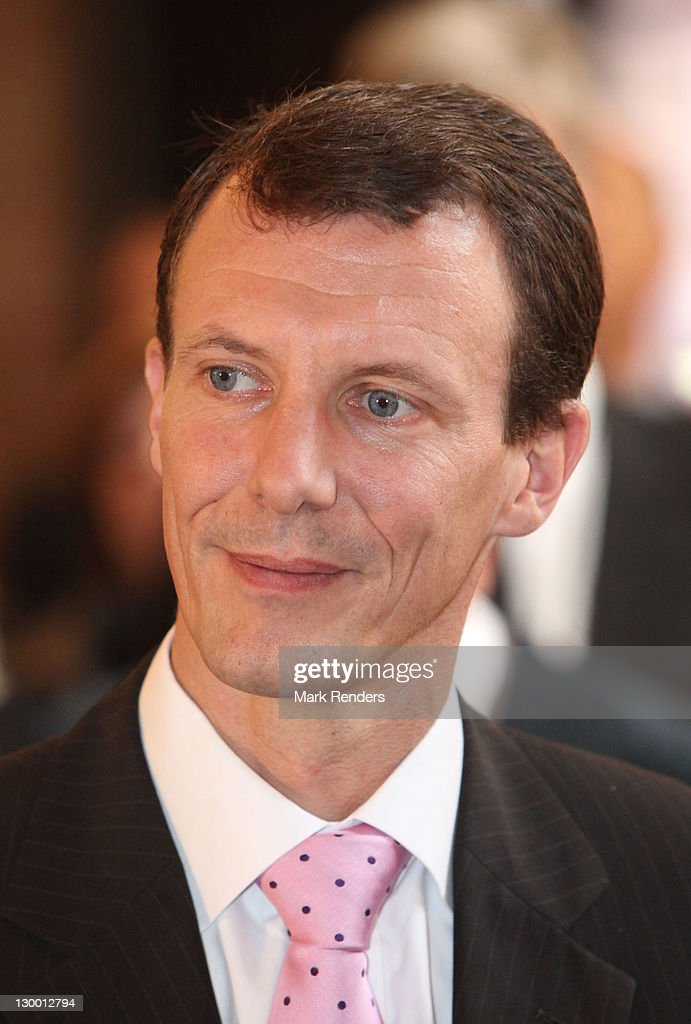 Prince Joachim of Denmark inaugurate of Our Lady's Church on October 23, 2011 in Brussels, Belgium.
