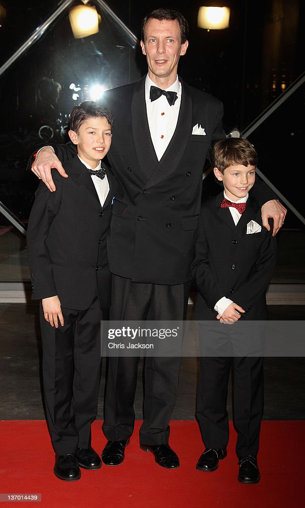 Prince Joachim of Denmark (C) leaves a Gala Performance at the DR Concert Hall to celebrate 40 years on the throne at City Hall on January 14, 2012 in Copenhagen, Denmark.