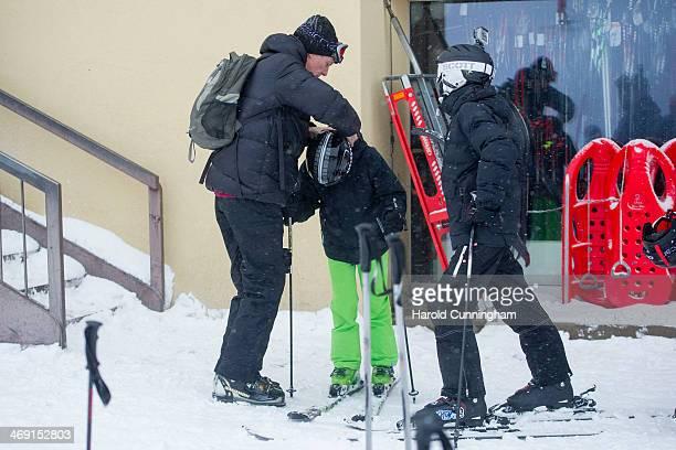 Prince Joachim of Denmark Prince Felix of Denmark and Prince Nikolai of Denmark meet the press whilst on skiing holiday in Villars on February 13...