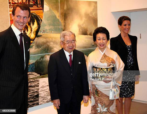 Prince Joachim of Denmark, Prince Hitachi, Princess Hanako of Hitachi, Princess Marie of Denmark pose for photographs during the Wild Swans -A...