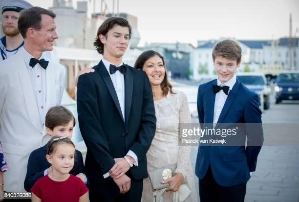 Prince Joachim of Denmark Princess Athena of Denmark Countess Alexandra of Denmark Prince Nikolai of Denmark and Prince Felix of Denmark attends his...