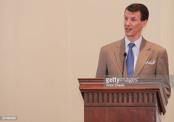 Prince Joachim of Denmark speaks during the MexicoDenmark Water Seminar Hydric infrastructure investment opportunities at Four Seasons Hotel on March...