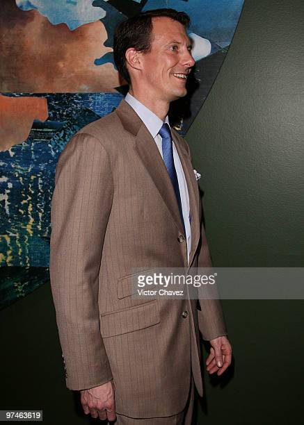 Prince Joachim of Denmark visits the The Wild Swans exhibition at Franz Mayer Museum on March 4 2010 in Mexico City Mexico The Royals are in a...