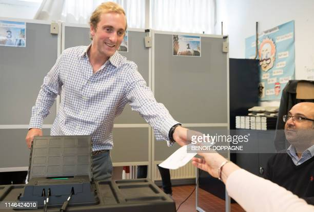 Prince Joachim pictured at a polling station in Laken/Laeken, Brussels, Sunday 26 May 2019. Belgium holds regional, federal and European elections on...