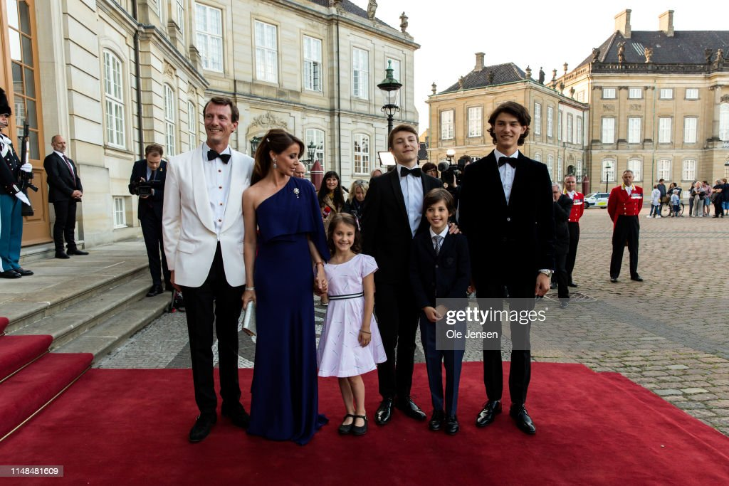 Queen Margrethe Of Denmark Host Birthday Dinner Party For Prince Joachim : News Photo