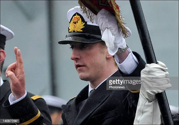 Prince Joachim takes his Military Oath during the Military Oath Taking Ceremony at the Base Navale Zeebrugge on March 52012 in ZeebruggeBelgium