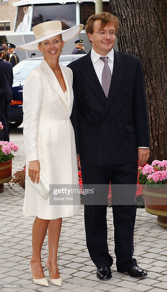 Prince Johan Friso and Princess Mabel arrive for the Christening of baby girl Catharina-Amalia, daughter of Dutch Crown Prince Willem Alexander and Princess Maxima at the Hague on June 12, 2004 in Amsterdam, The Netherlands. Her parents announced the birth of their daughter Princess Amalia - who is the heir to the Dutch throne - on December 7, 2003.