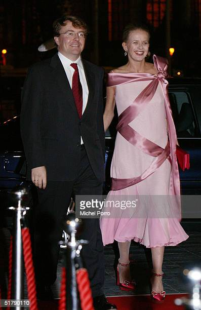 Prince Johan Friso and Princess Mabel who is pregnant attend a dance performance in honour of the wedding of the Princess and Prince November 24 2004...