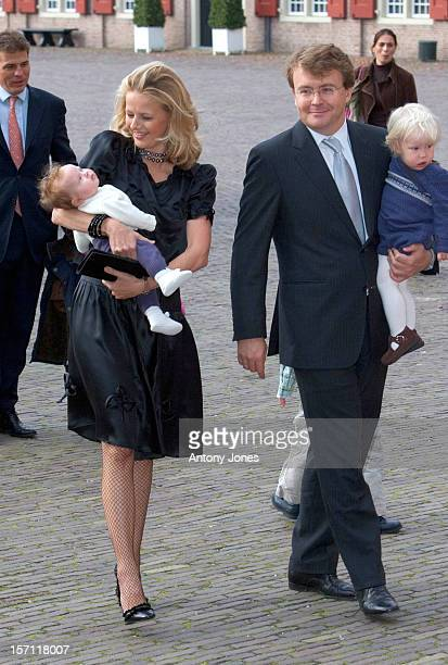 Prince JohanFriso Princess Mabel And Children Emma Joanna Attend The Christening Of Prince Constantijn Princess Laurentien Of The Netherlands...