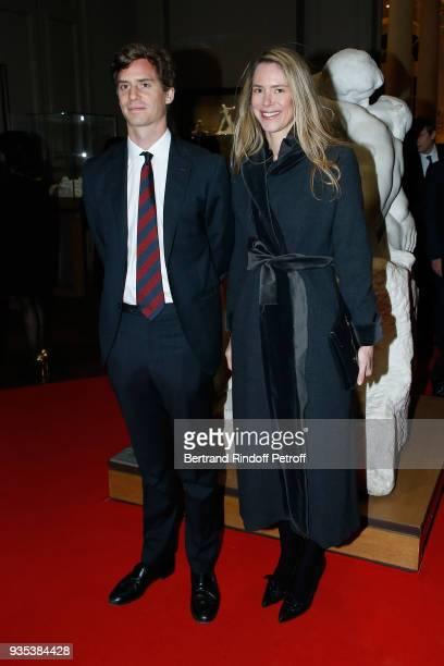 Prince Josef-Emanuel of Liechtenstein and his sister Princess Maria-Anunciata of Liechtenstein attend the Reception given by LL.AA.RR. Grand-Duc...