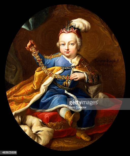 Prince Joseph future Emperor Joseph II of Austria as a child 18th century Joseph II succeeded his father Francis I as Holy Roman Emperor in 1765...
