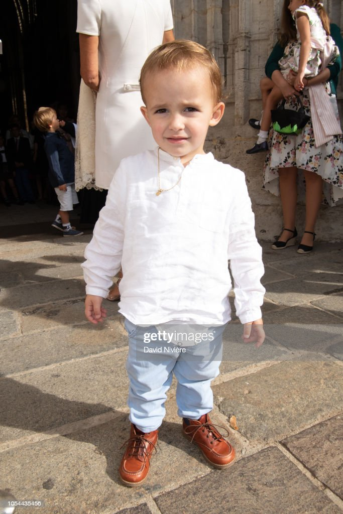 Christening Of Princess Jacinthe Of Orleans In Dreux : ニュース写真