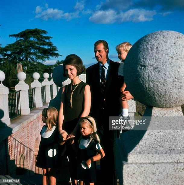 Prince Juan Carlos Princess Sophia Of Spain With Their Children