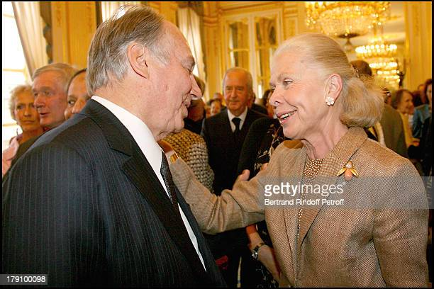 Prince Karim Aga Khan and Duchess Gersande D'Orleans at Christine Albanel Presents The 'Grand Patron' And 'Grand Donor' Award To His Highness The Aga...