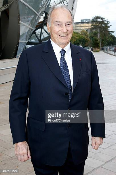 Prince Karim Aga Khan attends the Foundation Louis Vuitton Opening at Foundation Louis Vuitton on October 20 2014 in BoulogneBillancourt France