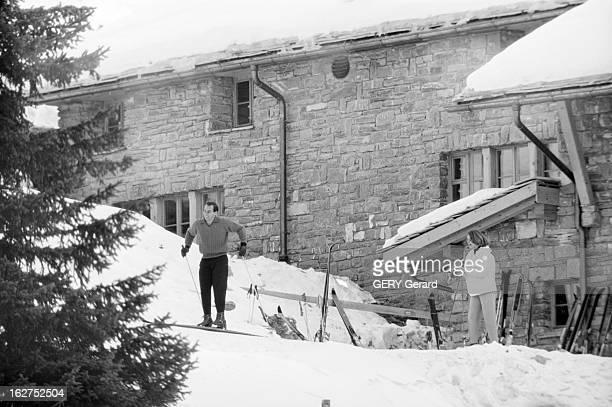 Prince Karim Aga Khan Iv On Winter Sports In Gstaad En Suisse à Gstaad en janvier 1958 le prince Karim AGA KHAN IV chef spirituel des ismaéliens...