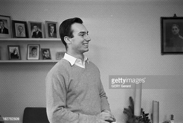 Prince Karim Aga Khan Iv On Winter Sports In Gstaad En Suisse à Gstaad en janvier 1959 le prince Karim AGA KHAN IV le chef spirituel des ismaéliens...