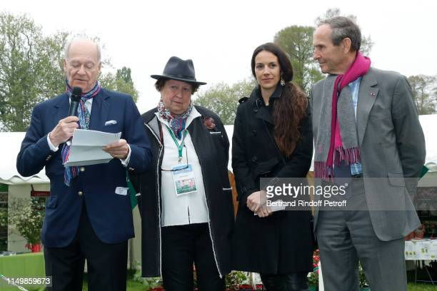 Prince Karim Aga Khan Owner of the Domaine de Courson Helene Fustier Director of the Foundation of Chantilly Feriel Fodil and General of Corps Jerome...