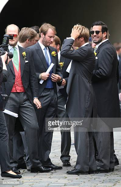 Prince Konstantin of Bavaria son of Leopold and Ursula of Bavaria during the wedding of hereditary Prince FranzAlbrecht zu OettingenSpielberg and...