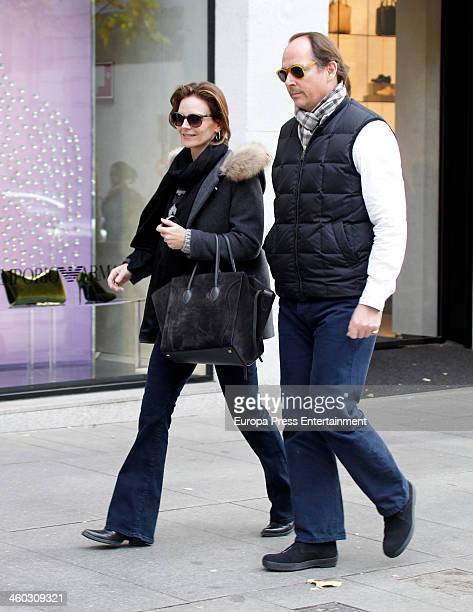 Prince Konstantin of Bulgaria and Maria Garcia de la Rasilla are seen on December 21 2013 in Madrid Spain