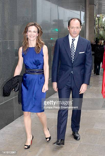 Prince Konstantin of Bulgaria and Maria Garcia de la Rasilla attend the wedding of Alvaro Fuster and Beatriz Mira at Hacienda Nadales on March 24...