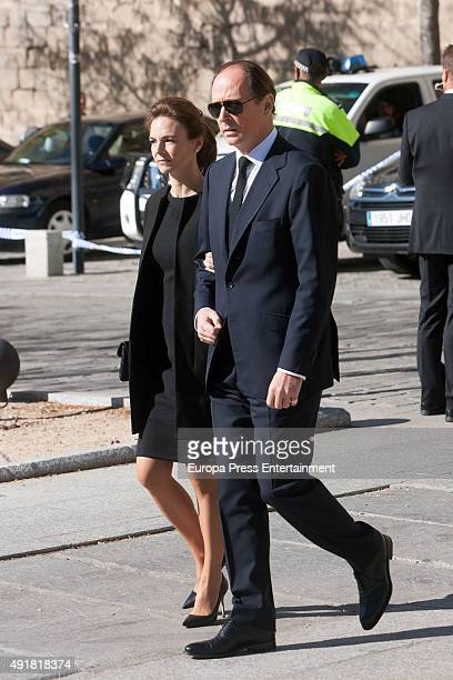 Prince Konstantin of Bulgaria and Maria Garcia de la Rasilla attend the Corpore Insepulto mass for Carlos de Borbon Dos Sicilias second cousin of...