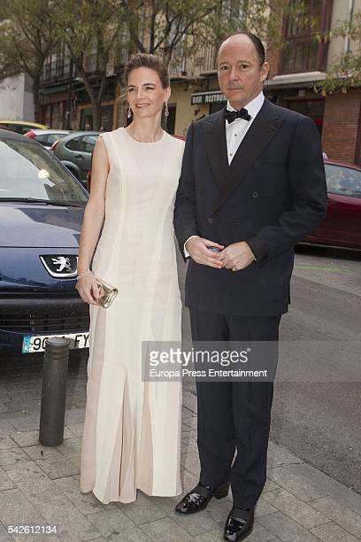 Prince Konstantin of Bulgaria and Maria Garcia de la Rasilla attend the interior decorator Michael S Smith's 52th birthday party at Fernan Nunez...