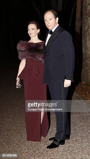 Prince Konstantin of Bulgaria and Maria Garcia de la Rasilla attend the 54th birthday party of the USA Ambassador James Costos at Museo del Traje on...