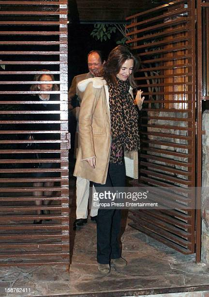 Prince Konstantin of Bulgaria and Miriam Garcia de la Rasilla visit Prince Kardam of Bulgaria in his 50th birthday on December 2 2012 in Madrid Spain...