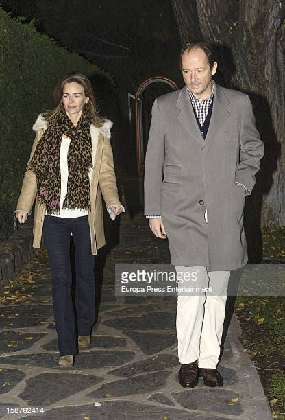 Prince Konstantin of Bulgaria and Miriam Garcia de la Rasilla visits Prince Kardam of Bulgaria in his 50th birthday on December 2 2012 in Madrid...