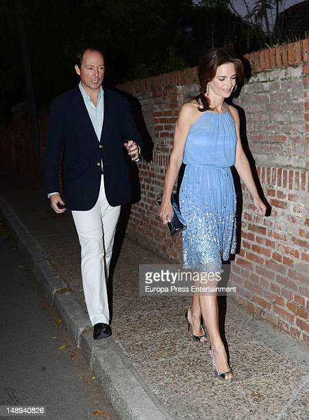 Prince Konstantin of Bulgaria and Princess Maria Garcia de la Rasilla attend a party at president of Airbus' home Domingo Urena on June 29 2012 in...