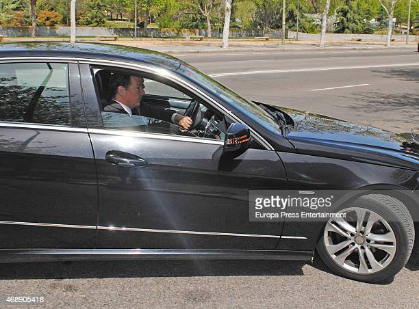 Prince Konstantin of Bulgaria attends the funeral chapel for Prince Kardam of Bulgaria on April 8 2015 in Madrid Spain