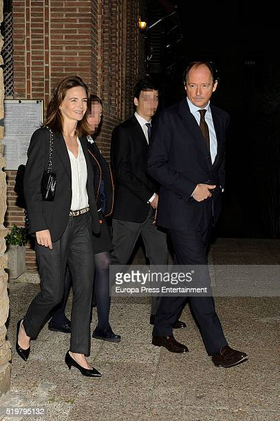 Prince Konstantin of Bulgaria his wife Maria Garcia de la Rasilla and their sons attend the funeral service for Prince Kardam of Bulgaria on the...