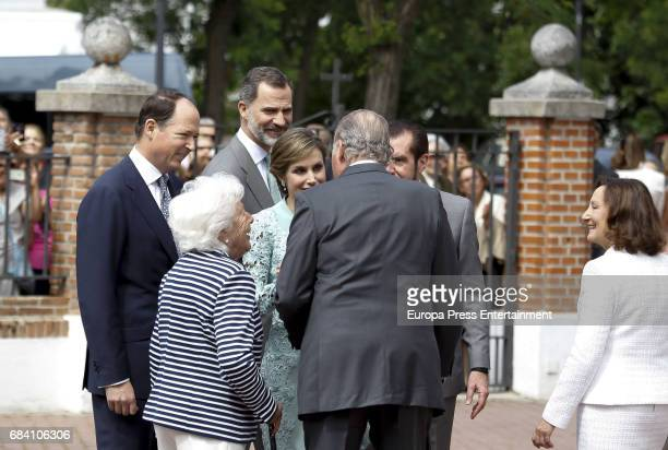 Prince Konstantin of Bulgaria Queen Letizia's grandmother Menchu Alvarez del Valle King Felipe of Spain Queen Letizia of Spain King Juan Carlos Queen...