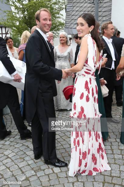 Prince Konstantin von Bayern and his fiance Deniz Kaya during the wedding of Princess Theodora zu SaynWittgensteinBerleburg and Earl Nikolaus Bethlen...