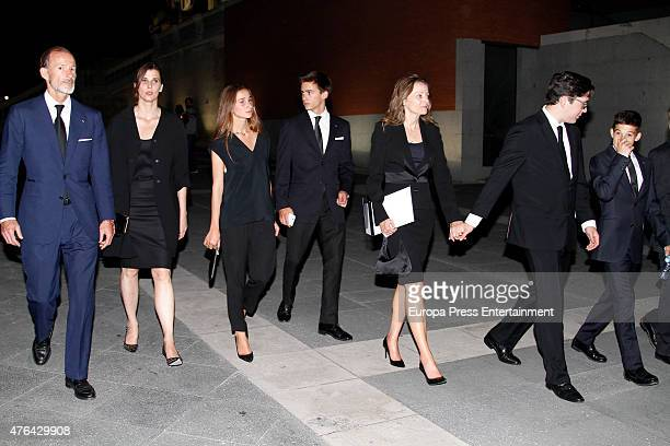 Prince Kyril of Bulgaria and Rosario Nadal attend the memorial service for Prince Kardam of Bulgaria at San Jeronimo el Real church on June 8 2015 in...