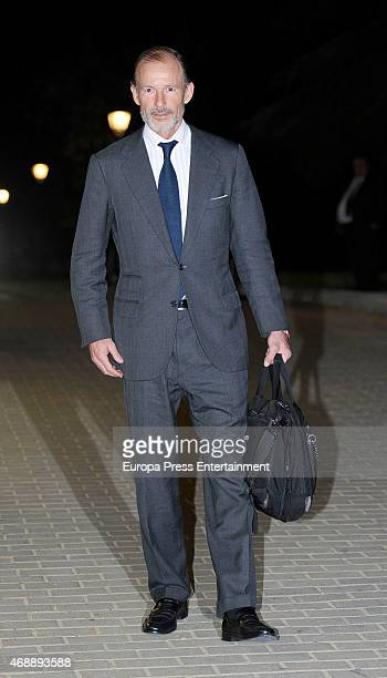 Prince Kyril of Bulgaria attends the funeral chapel for Prince Kardam of Bulgaria on April 7, 2015 in Madrid, Spain.