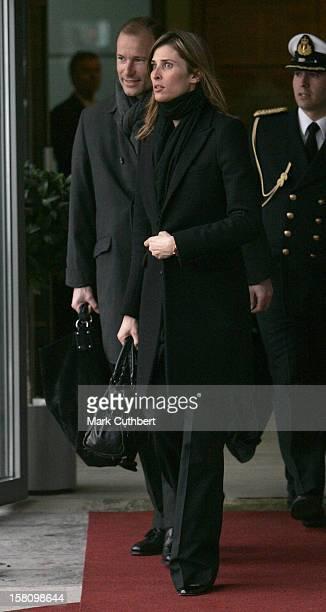 Prince Kyril Princess Rosario Of Bulgaria Arrive At Oslo Airport Prior To The Christening Of Prince Sverre Magnus Of Norway